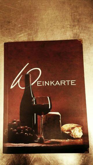 Foto der Weinkarte von L'Antico Borgo in Burghausen